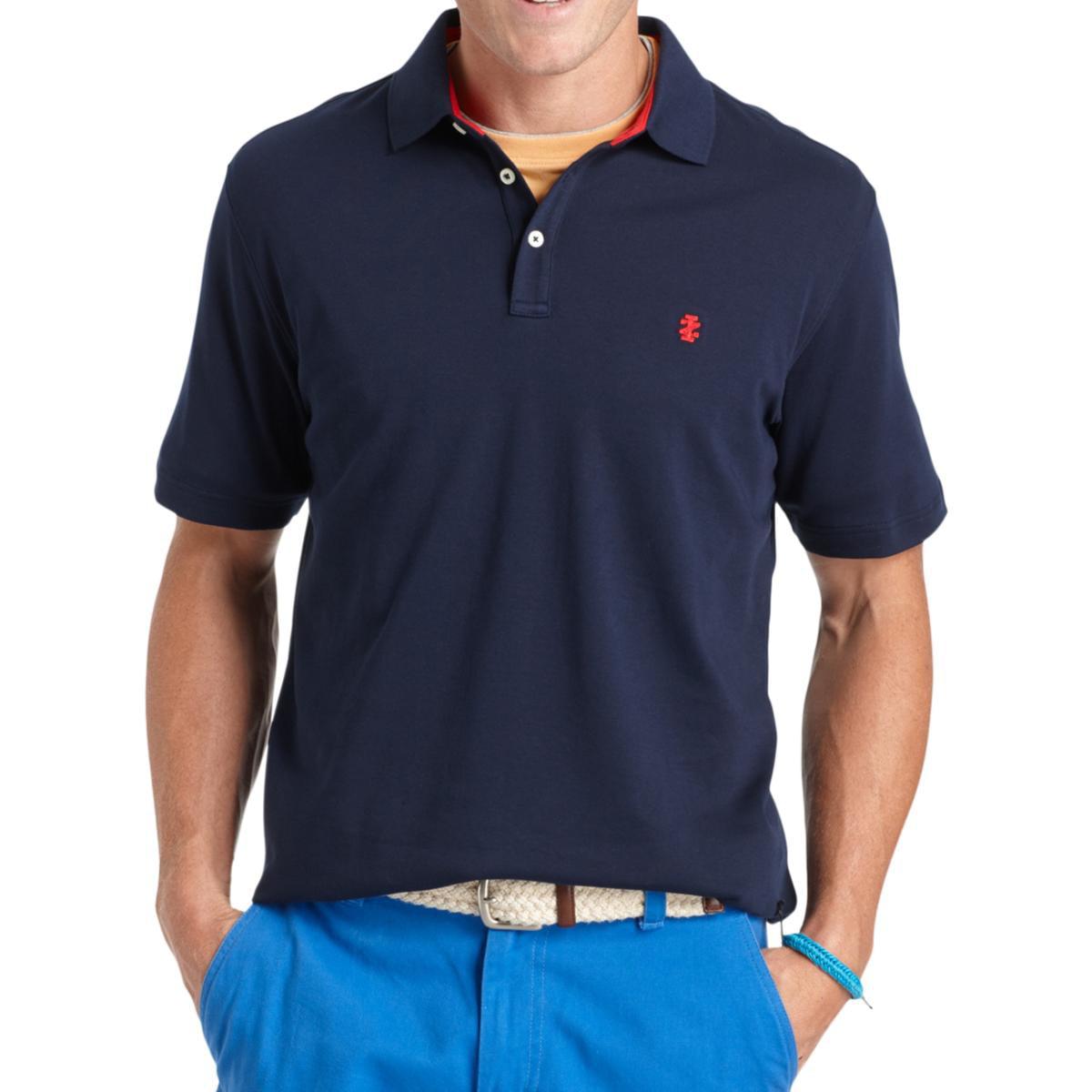 Izod Mens Monogram UPF-15 UV Polo Shirt