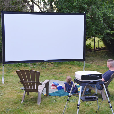 Visual Apex ProjectoScreen144HD Portable Movie Theater Projector Screen 16:9 format by