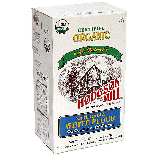 Hodgson Mill Organic Naturally White Flour, 32 oz (Pack of 6)