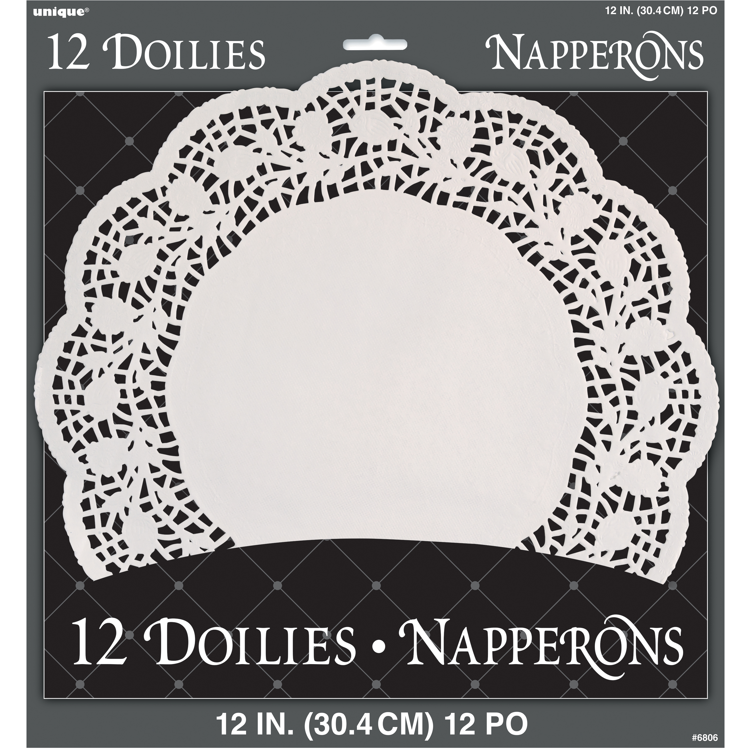 Paper Doilies, 12 in, White, 12ct