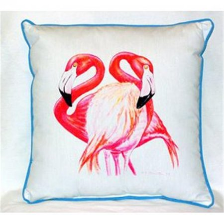 Betsy Drake ZP384 Two Flamingos Throw Pillow, 22 x 22 in. - image 1 of 1