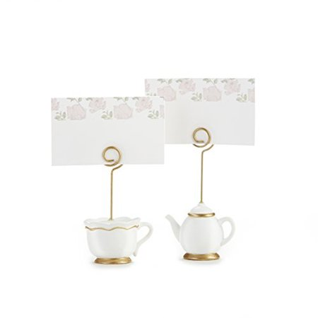 Kate Aspen, Place Card Holders, Tea Time Whimsy, Teapot and Teacup, Place Cards Included, Set of 6 (Place Card Holder)