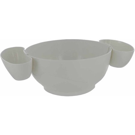 Prodyne White Chips and Dips 3-Piece Bowl Set