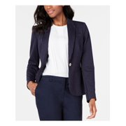TOMMY HILFIGER Womens Blue Pinstripe Blazer Wear To Work Jacket  Size: 14