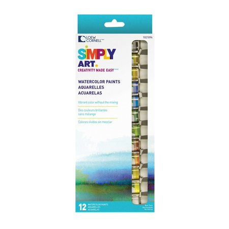 Loew Cornell 1021094 Simply Art Watercolor Paint, A spectrum of colors By LoewCornell