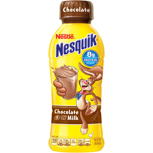 Nestle Nesquik Chocolate Low Fat Milk, 14 oz