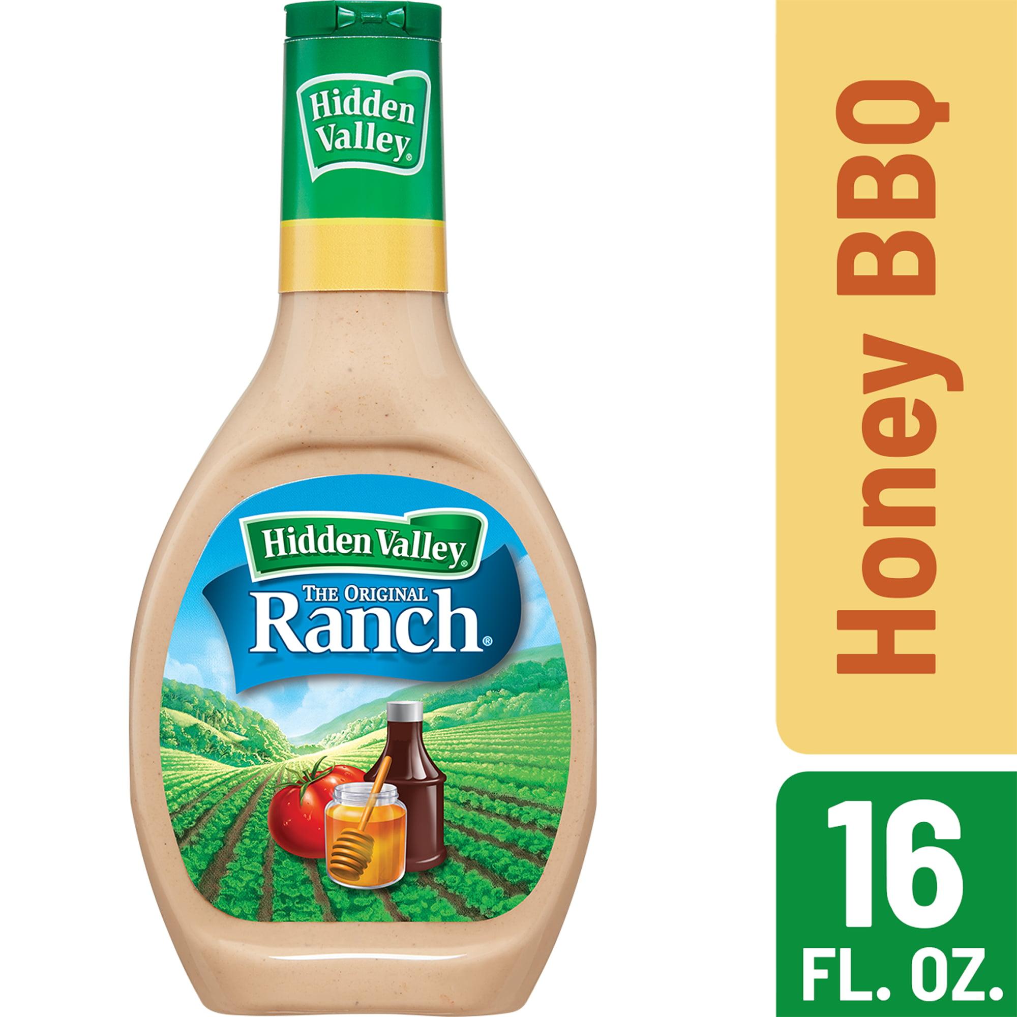 (2 Pack) Hidden Valley Honey BBQ Ranch Salad Dressing & Topping, Gluten Free - 16 oz Bottle
