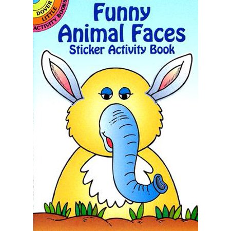 Funny Animal Faces Sticker Activity Book