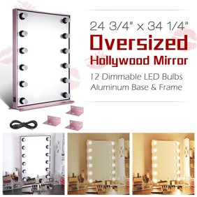 e3acc63332f Yescom Hollywood Makeup Vanity Mirror w/ Dimmable LED Lights Tabletop Wall  Mount