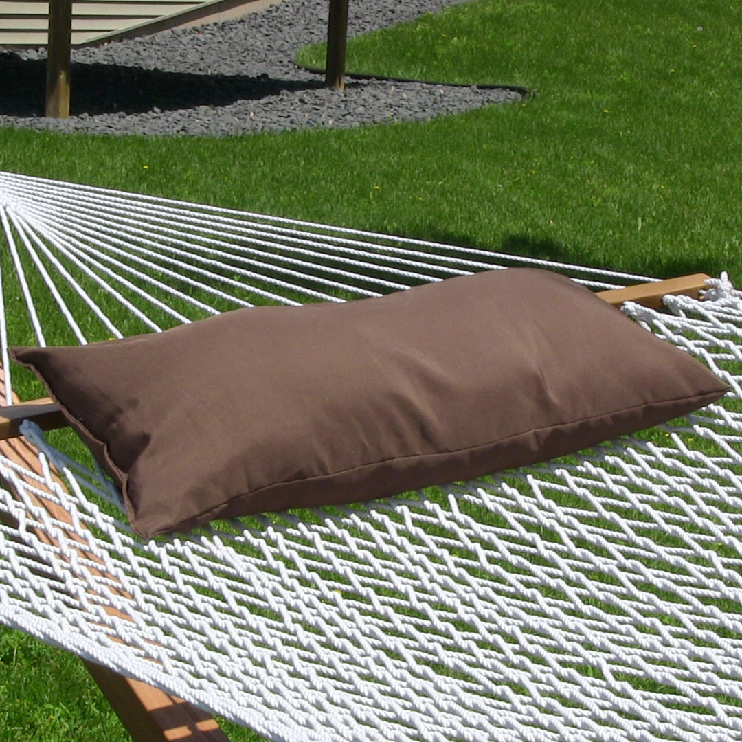 Sunnydaze Hammock Pillow, Walnut, 30 Inch Long x 12 Inch Wide