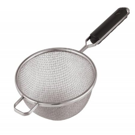 Paderno World Cuisine 6-1/4-Inch Double Mesh Stainless-steel Strainer with ABS Handle