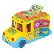 Dimple Educational Interactive School Bus Toy with Tons of Flashing Lights, Sounds, Responsive Gears and Knobs to Play with, Tons of Fun, Great for Kids and Toddlers by Dimple