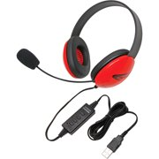 USB Stereo Headphones Listening First Series Red