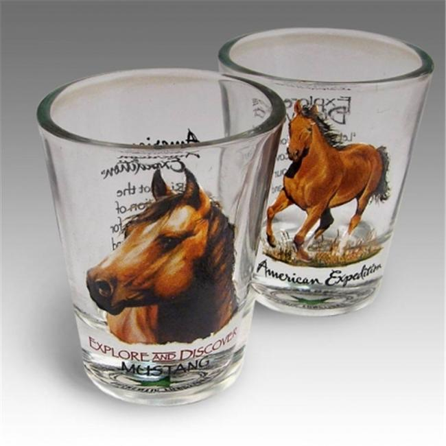 American Expediton 2SHT-110 American Mustang Shot Glass Set