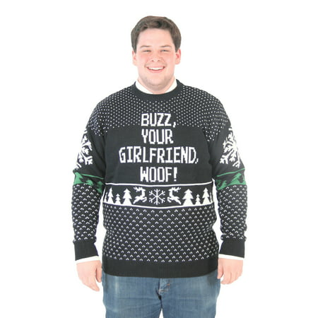 Plus Size Home Alone Buzz Your Girlfriend Woof Sweater - Buzz Home Alone