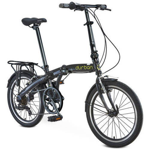 "20"" Durban One Up Folding Bike, Black"