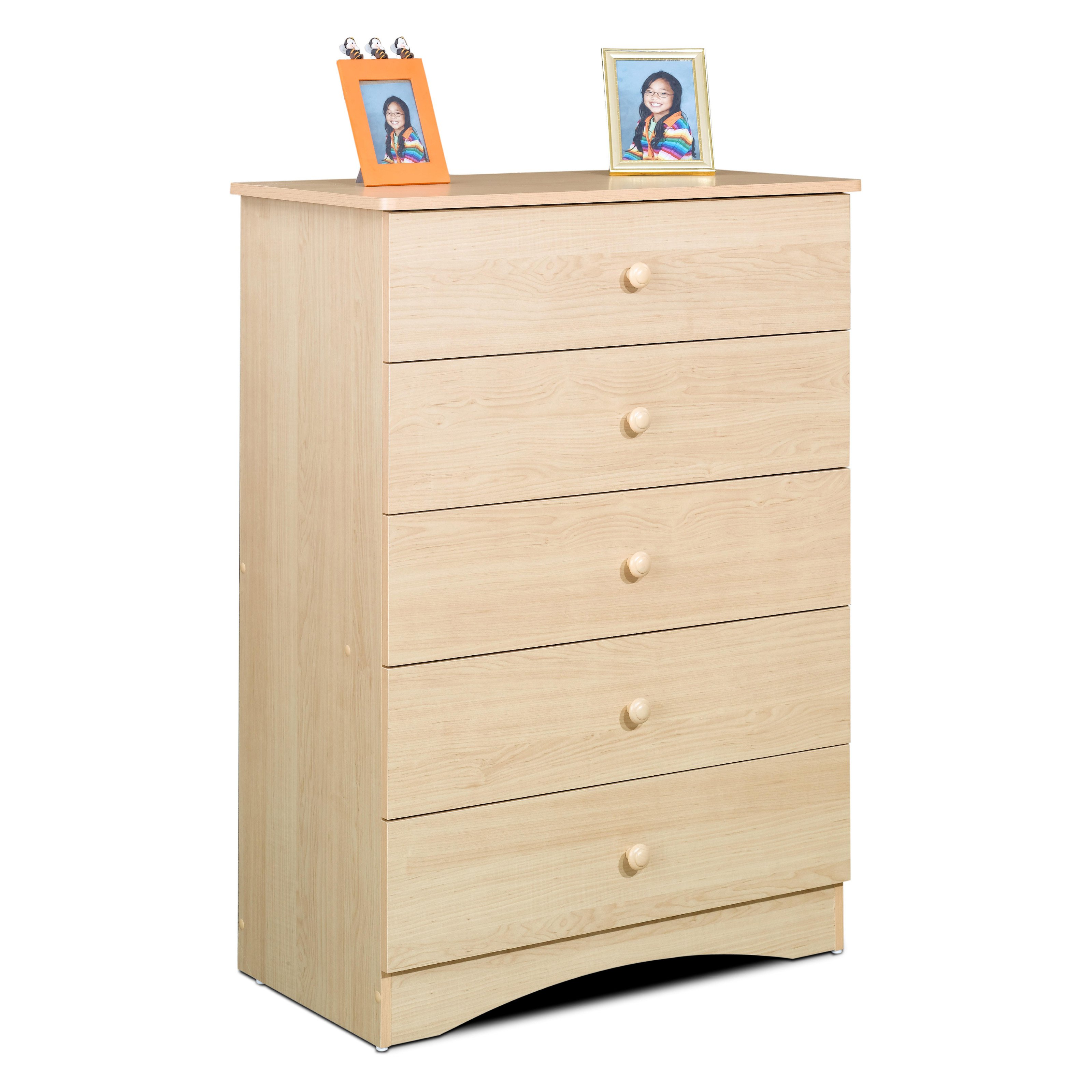 Alegria Natural Maple 5-Drawer Chest Dresser
