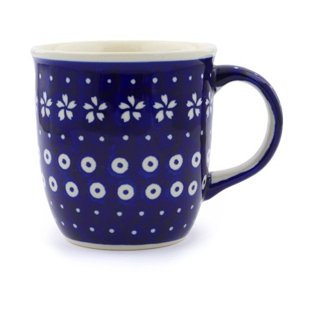 Polish Pottery 11 oz Mug (Hawaiian Sky Theme) Hand Painted in Boleslawiec, Poland + Certificate of Authenticity (Hawaiian Themed Decorating Ideas)