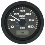 SeaStar Solutions GPS Premier Pro Black Speedometer, 60 MPH