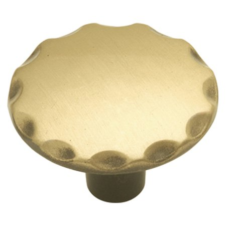 Hickory Hardware 1.13 in. Cavalier Cabinet Knob Brass Finish Cabinet Knobs