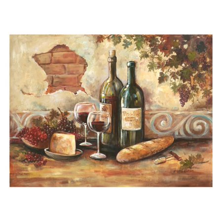 Bountiful Wine II French Italian Food Still Life Painting Print Wall Art By Gregory Gorham - Italian Still Life