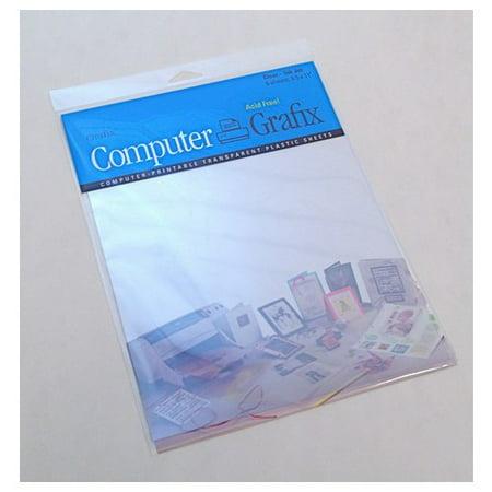 GRAFIX KCAI81150 CLEAR ADHESIVE BACKED INKJET FILM 8.5X11 50 PACK