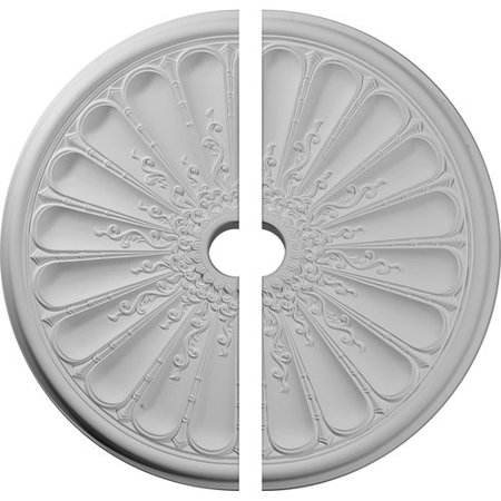 Ekena Millwork 31 1/2u0022OD x 3 5/8u0022ID x 1 1/2u0022P Kirke Ceiling Medallion, Two Piece (Fits Canopies up to 3 5/8u0022)