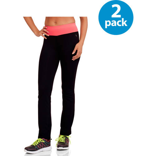 Danskin Now Juniors Active Skinny Performance Pants with Contrast Waist Value Bundle
