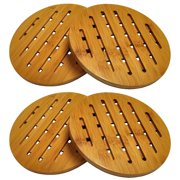 HealthPro Organic Moso Bamboo Collection 2-Piece Heavy Duty Trivet Set