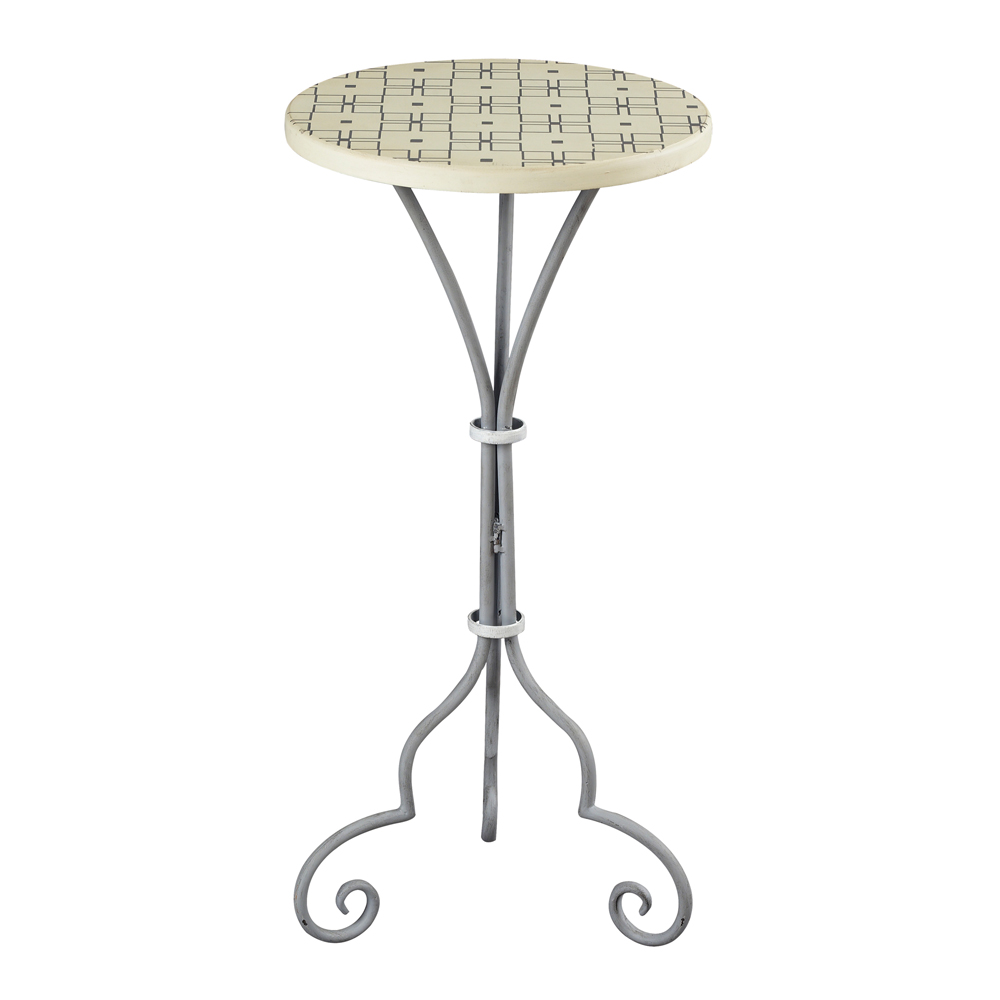 Sterling Industries 51-10134 Ayer-Large Plant Stand In Grey & White Painted Finish
