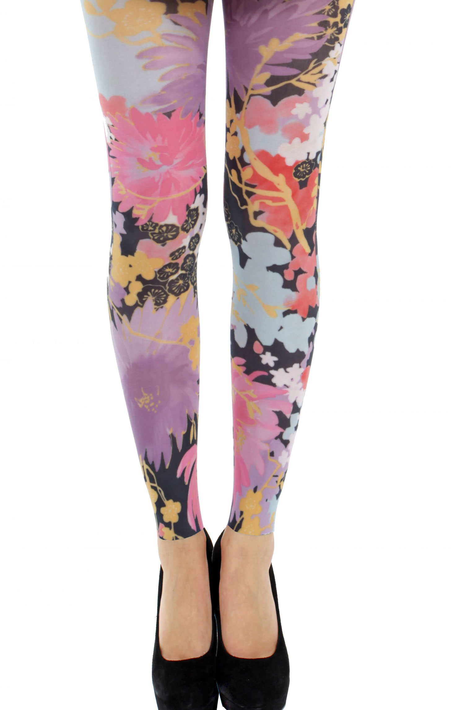 Plus Size Patterned Tights - styleofit.com