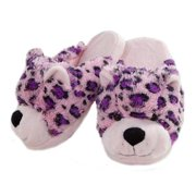 My Pillow Pets Pink Leopard Plush Slippers