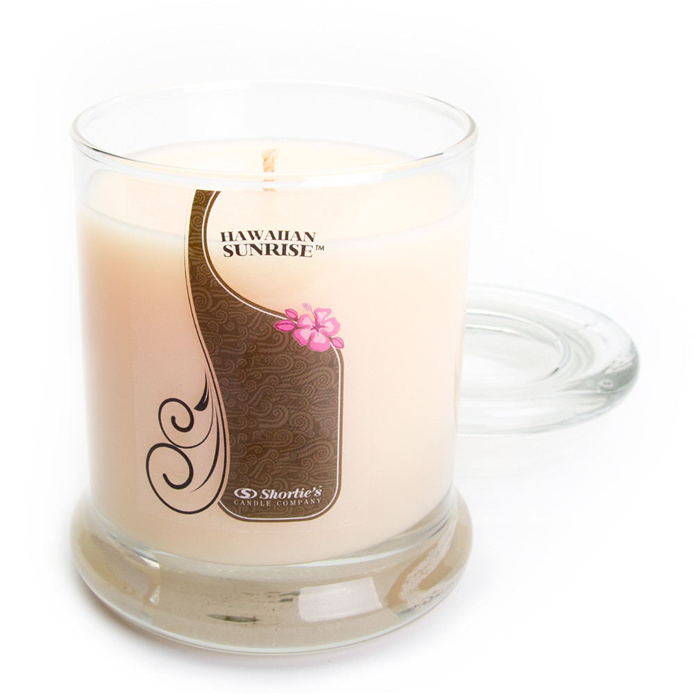 Hawaiian Sunrise Candle - 10 Oz. Highly Scented Orange Jar Candle - Clean Candles Collection