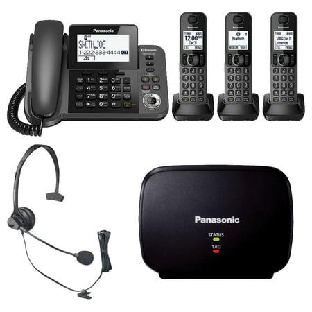 Panasonic KX-TGF383M DECT 3-Handset Landline Telephone + Headset + Range