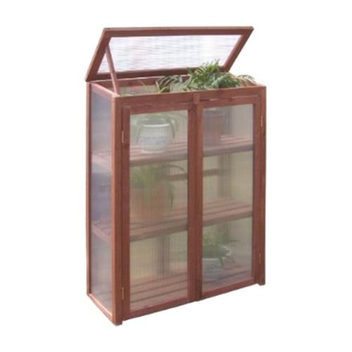 Leisure Season Mini Greenhouse, Medium Brown by Tradeworks Group LTD