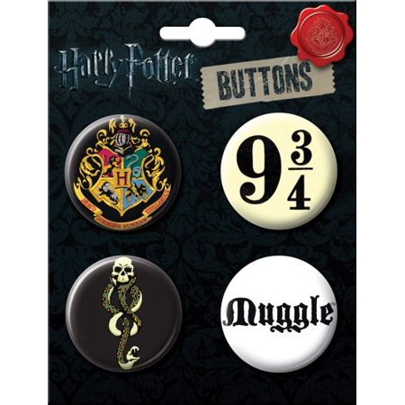 Chain Brooch - Harry Potter Fan Favorites 4 Button Set (Made in USA)