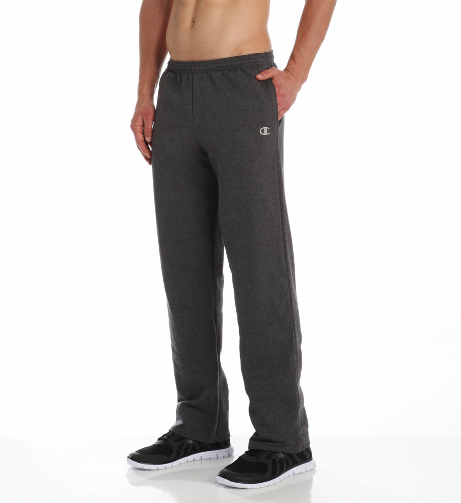 271900f7cc52 Mens Eco-Fleece Open-Bottom Sweatpant S Granite Heather - Walmart.com