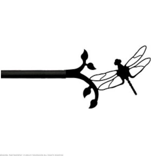 Village Wrought Iron CUR-71-35 Dragonfly - Curtain Rod Extends To 35 Inches