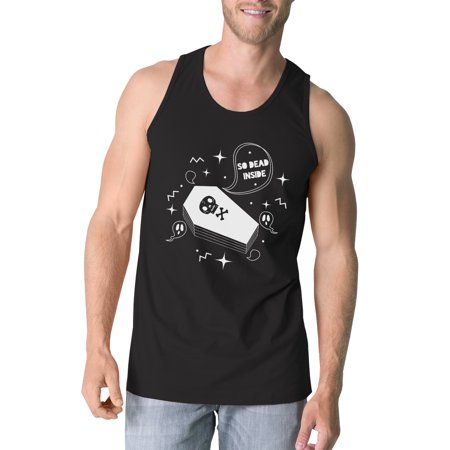Dead Inside Coffin Halloween Tank Top For Men Black Cotton - Coffins For Halloween