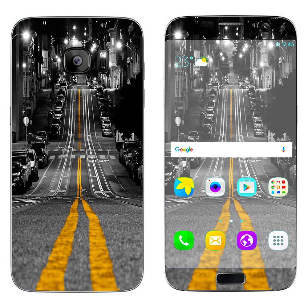 Skins Decals For Samsung Galaxy S7 Edge / City Roads Downtown Streets