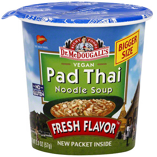 Dr. McDougall's Thai Pad Noodle Big Cup Soup, 2.0 oz (Pack of 6)
