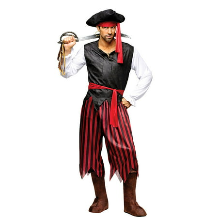 Mens Caribbean Pirate Halloween Costume Size Standard - Pirate Costumes For Men