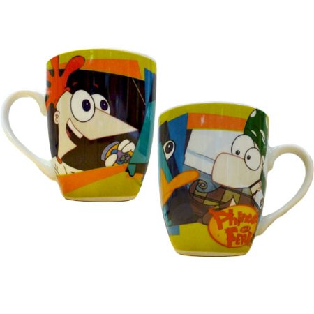 Disney Phineas and Ferb with Perry Barrel Porcelain -