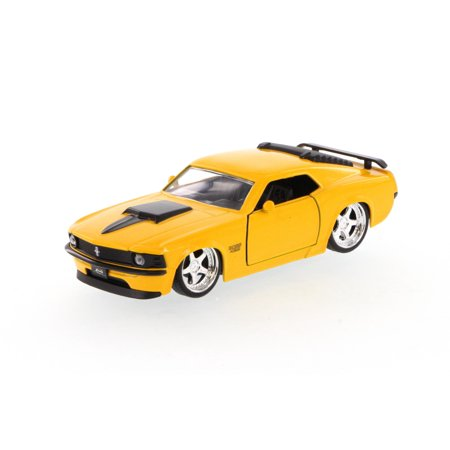1970 Mustang Boss 429, Yellow - Jada Toys 96941 - 1/32 scale Diecast Model Toy Car (Brand New, but NOT IN BOX)