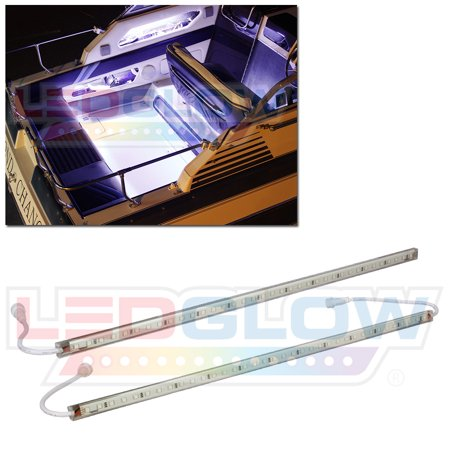 LEDGlow 2pc White LED Boat Deck & Cabin Lighting