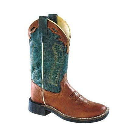 Kid S Old West Barnwood Denim Blue Top Cowboy Boots