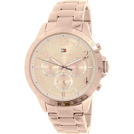 tommy hilfiger women 39 s dani 1781642 rose gold stainless steel quartz watch. Black Bedroom Furniture Sets. Home Design Ideas