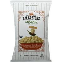 Gh Cretors Organic Chile Jalapeno White Cheddar Popped Corn, 4.5 oz, (Pack of 12)