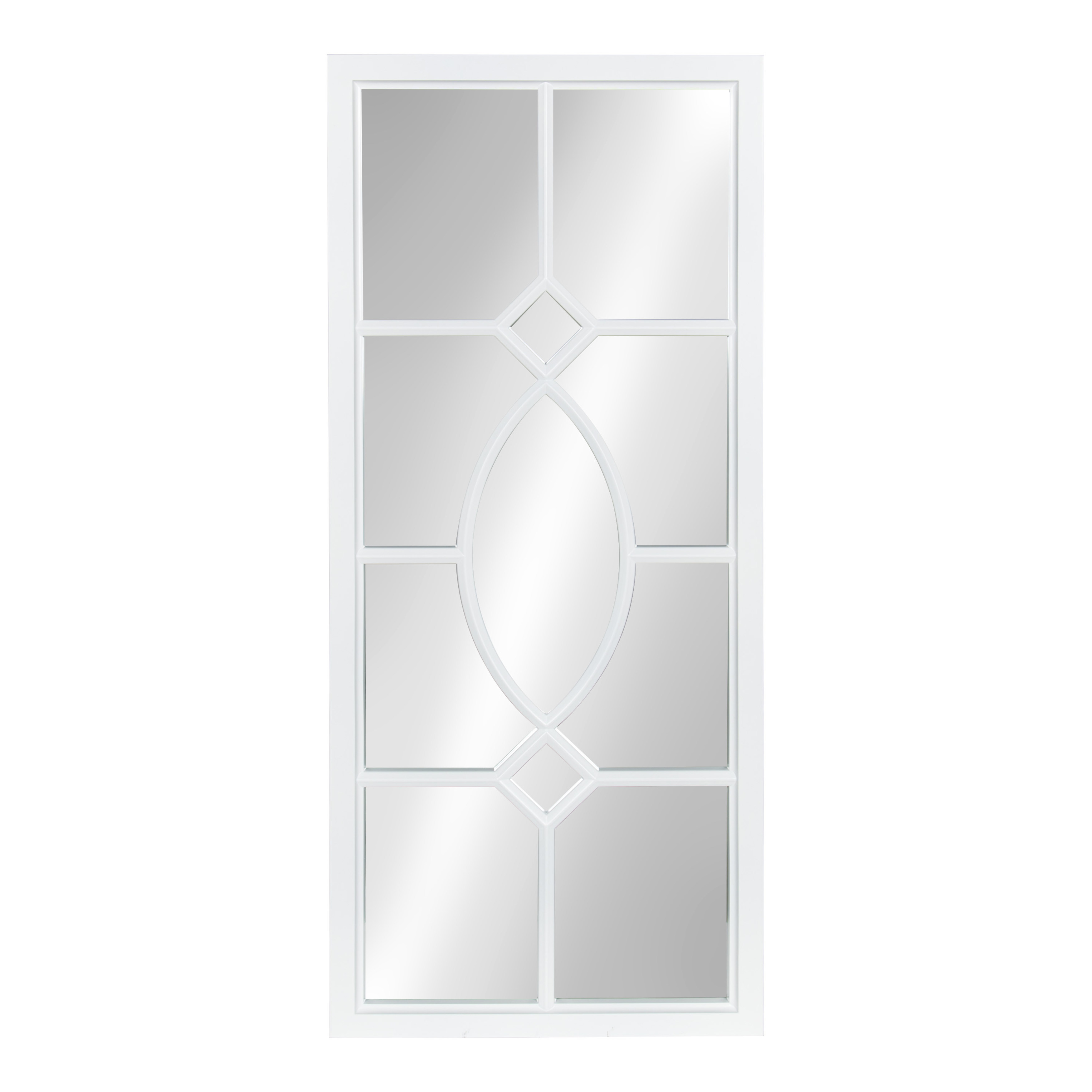 Kate and Laurel Cassat Window Wall Accent Mirror, White by Uniek