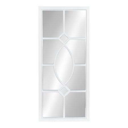 Kate and Laurel Cassat Window Wall Accent Mirror, White ()